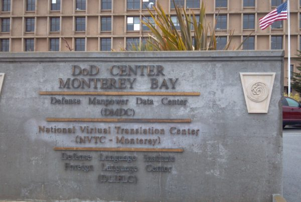 DoD facility sign
