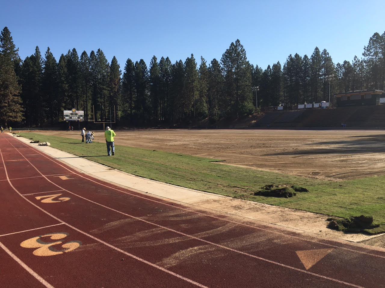 Paradise HS – EPIC sand field conserves 50% water.