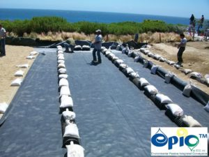 EPDM liner and EPIC chambers used in cliff erosion control