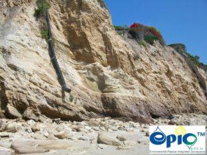 Cliff erosion control final drain overflow
