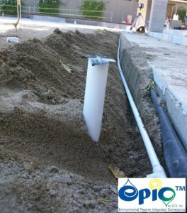 pressurized pipe from pump to inlets.